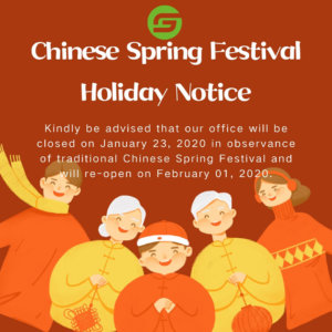 Chinese Spring Festival Holiday Notice