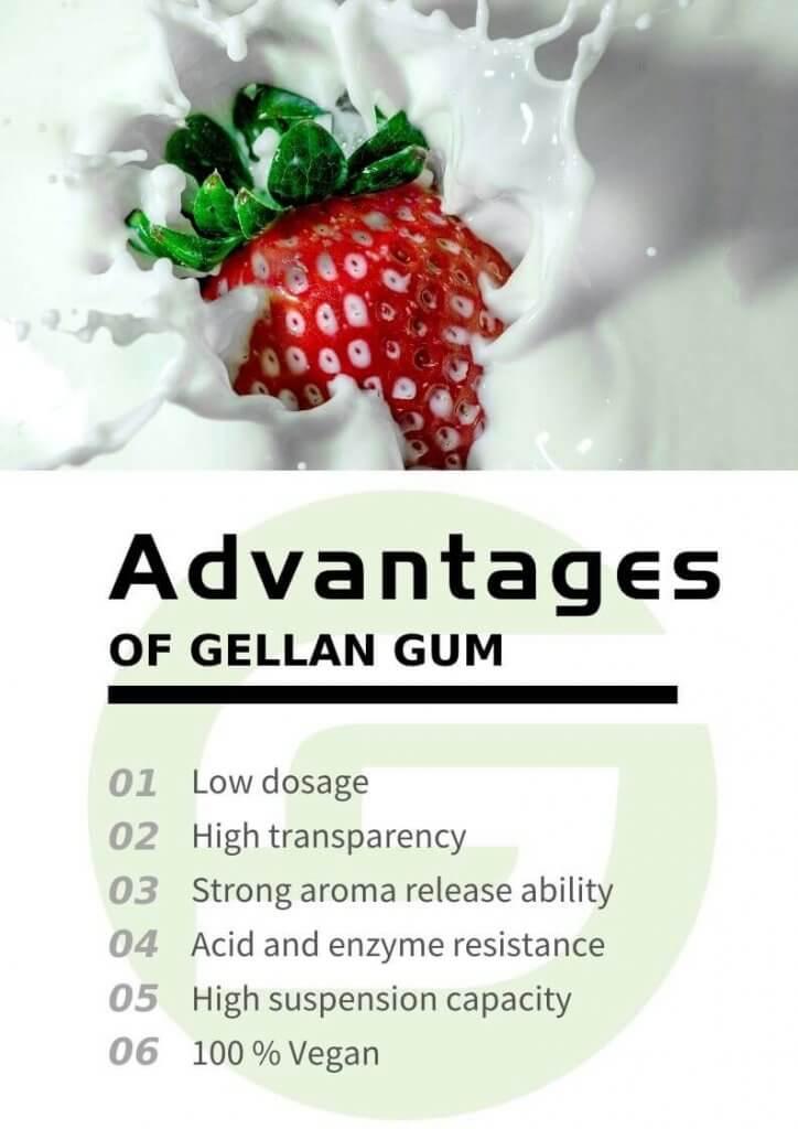 6 Advantages of Gellan gum