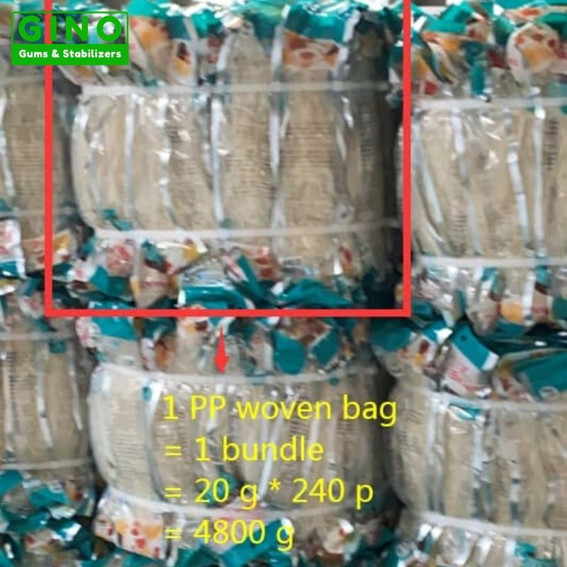 Small packaging agar strips with strapping tape in our warehouse