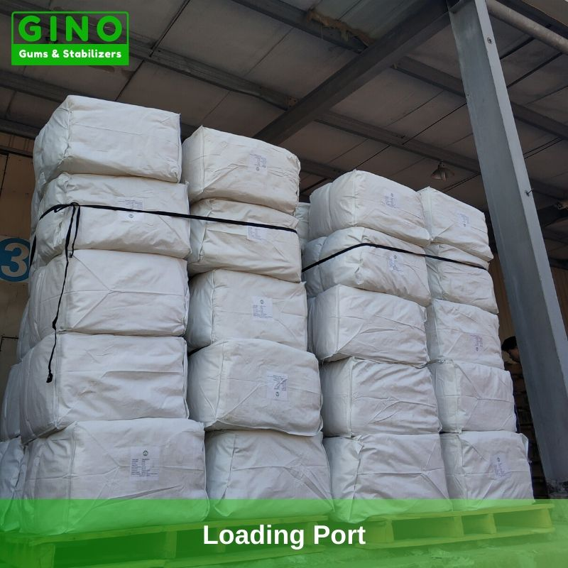 Agar Agar Strips in the loading port