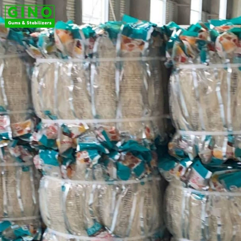 Small packaging agar strips with strapping tape in our warehouse 2
