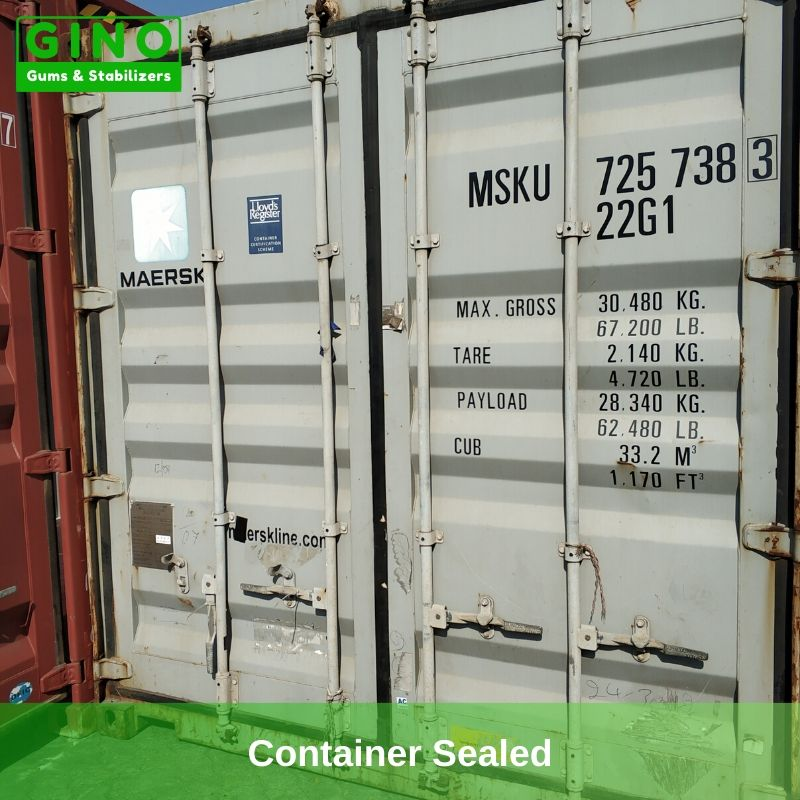 The container has been sealed and waiting for sailing