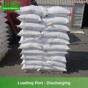 The goods reach the loading port and under discharging.