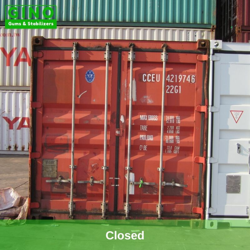 The doors of container have been Closed