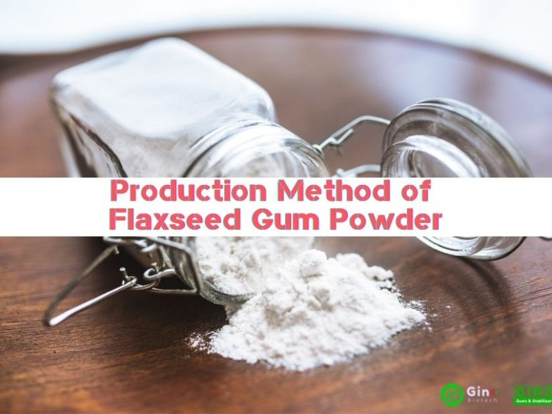 Production Method of Flaxseed Gum Powder 874-620